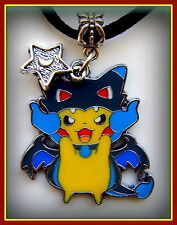 POKEMON Pikachu Pendant Necklace Jewelry - Pokemon Game Character Anime w/ Star