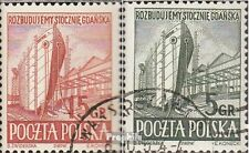 Polen 775-776 (kompl.Ausg.) gestempelt 1952 Schiffbau in Danzig