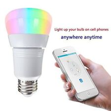 WiFi Remote Control Smart LED Bulb 8W E27 RGB Light For echo Alexa Google Home