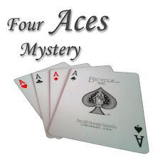 Four Aces Mystery - spektakulärer Kartentrick Zaubertrick Zauberartikel