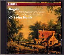 Colin DAVIS: HAYDN Symphony No.93 94 Suprise 96 Miracle CD Mit dem Paukenschlag
