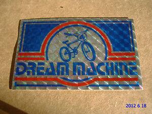 1 AUTHENTIC NOS DREAM MACHINE BMX FRAME STICKER / DECAL / AUFKLEBER