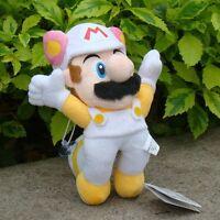 "Super Mario Bros Plush Toy Fly White Raccoon Mario 8"" Lovely Stuffed Animal Doll"