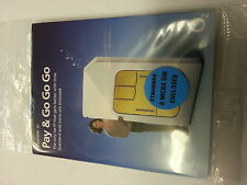 OFFICIAL O2 NETWORK PAY AS YOU GO 02 SIM CARD  STANDARD SIZE NANO AND MICRO SIM