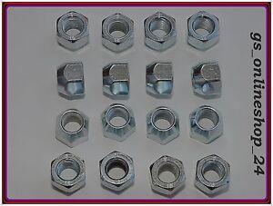 16 Radmuttern für Stahlfelgen Volvo C30 C70 S40 V50 M12 x 1,5 NEU .