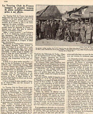 95 LUZARCHES HOTEL ST DAMIEN TCF INAUGURE PISTE CYCLABLE ARTICLE PRESSE 1929