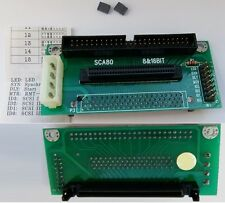 SCA80 Drive~HPDB68/HD68wire Female+SCSI50pin Male LVD/Ultra/U320cable Adapter$SH