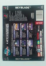 *BACK INLAY ONLY* Beyblade Back Inlay  PS1 PSOne Playstation