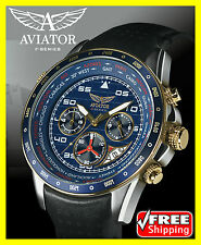 Orologio da Polso AVIATOR AVW7770G262 Uomo Cronografo Cinturino pelle 100m 10ATM