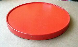 Kuchenplatte Tortenplatte Drehplatte 28cm  rund orange Vintage 60er70er