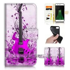 ( For Oppo A57 ) Wallet Flip Case Cover P31096 Guitar