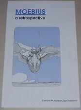 MOEBIUS A Retrospective Book Comic Cartoon Art Museum San Francisco 1995 1st Ed