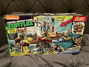 "Playmates Toys TMNT Mutations Giant 24"" Leonardo Playset Lair Action Figure"