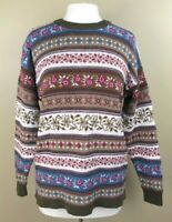 Vintage American Eagle Outfitters Sz M Sweater Pullover Nordic Stripe Oversized