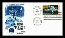 US APOLLO 11 MEN ON MOON FIRST DAY COVER AIR MAIL FLEETWOOD