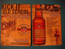 Beer Coaster >< COORS Brewing ~ Thanksgiving NFL Classics ~ Boston Braves Trivia