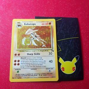 Pokemon Card Kabutops 9/62 Holo Rare Fossil Set 1999 WOTC