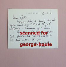 ROBERT LUDLUM - LETTER -  AUTOGRAPH  - SIGNED -  - BOURNE IDENTITY -