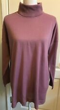 TALBOTS Woman Petites Sweater Turtleneck PURPLE Long Sleeve Size 2XP  NWT