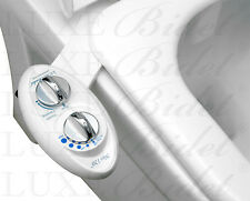 Luxe Bidet Neo 120. Self-Cleaning. Toilet Attachment. Metal Hoses. Fresh Water.