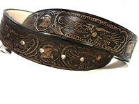 Handmade Genuine Leather Mens Belt American Eagle Work Casual YOU CHOOSE BUCKLE