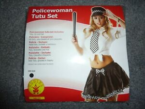 RUBIES Police Woman Tutu Set ONE SIZE NEW in PACK
