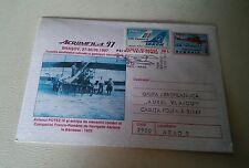000 Romania , AEROMFILA 1997 airplane Stamped Envelope Postmarked & Air France