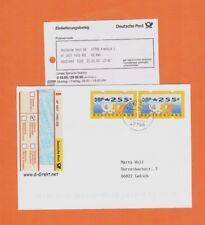 Fehlverwendung DOPPELFRANKATUR 255+255 Bund-ATM Nr. 3.1 Einschreiben 2000
