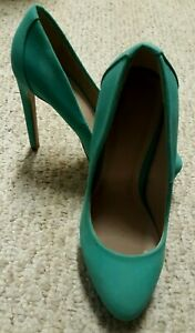 Gorgeous CHARLOTTE RUSSE Green Women Size 7 PLATFORM Ultra High Heel Shoes