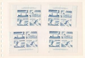 Canada Sc. 368a Plate 1 , Matched set MNH  ( lot 3157 )