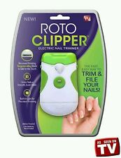 As Seen On TV Roto Clipper Electric Nail Trimmer Trims, files and smooths nails