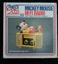 NIB Vintage Disney 1960s Mickey Mouse HI-FI Radio AM Tabletop made in Hong Kong