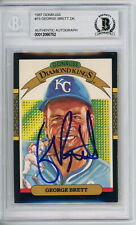 George Brett 1987 Donruss Diamond King DK Signed Autographed Card Beckett BAS