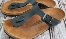 Girls Birkenstock Giza Thong Sandal ,size 33(US 2- 2.5)black