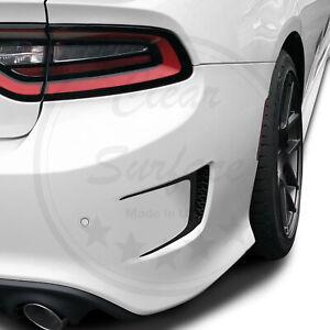 Custom Rear Bumper Vent Vinyl Decals Fits Dodge Charger 2015 - 2020 Matte