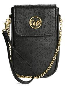 NEW GUESS Blaire Womens Handbag Phone Case Crossbody Wristlet Bag Black BNWT
