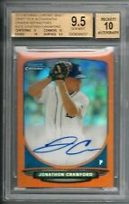 2013 Bowman Chrome Jonathon Crawford Orange Refractor Auto #13/25 BGS 9.5