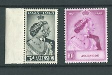 Ascension KGVI 1948 Royal Silver Wedding SG50/1 MNH