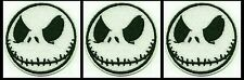 3 JACK SKELLINGTON Nightmare Before Christmas Embroidered Iron On/Sew On Patch