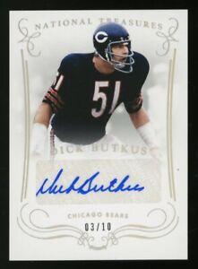 2014 Panini National Treasures Dick Butkus Chicago Bears HOF AUTO 3/10