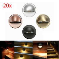 20 x 12V Half Moon LED Deck Stair Step Fence Lights Outdoor Landscape Lighting