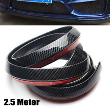 Car 2.5M PU Carbon Fiber Front Bumper Lip Splitter Chin Spoiler Body Trim (8ft)