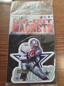 Lot of 80 Deion Sanders cowboys NFL FOOTBALL 1996 die cut MAGNETS NEW SEALED