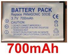 Batterie 700mAh type CGA-S003 VW-VBA05 Pour Panasonic SV-AS10-D