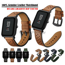 Dots First Layer Genuine Leather Watch Band Strap For Amazfit Bip Youth/Lite/S