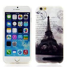 Apple iPhone 6 6S 4,7 Silikon Case Schutz Handy Hülle Cover Eiffelturm Paris