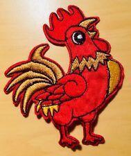 Hahn Aufnäher / Aufbügler cock patch rooster Rockabilly Emo Bügelbild Kinder coq