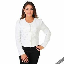 Cotton Patternless Blazer Formal Coats & Jackets for Women