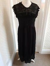 Zara Black Lace Midi Dress Size Medium