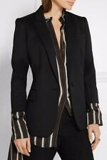 STELLA MCCARTNEY Black Ingrid wool blazer UK10 IT42  rrp695GBP dress